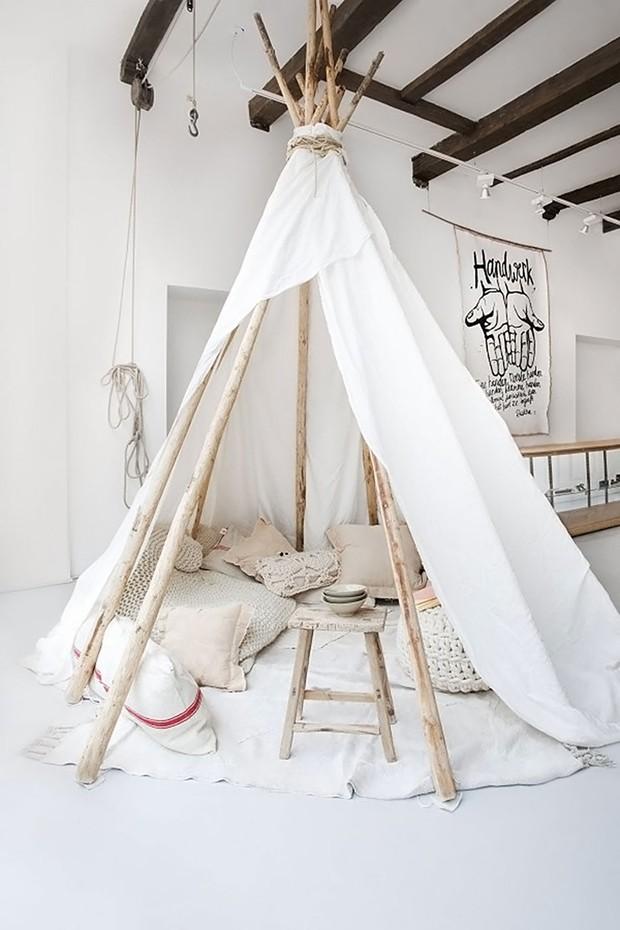 Décor do dia: cabana montessoriana na sala de estar (Foto: Divulgação)