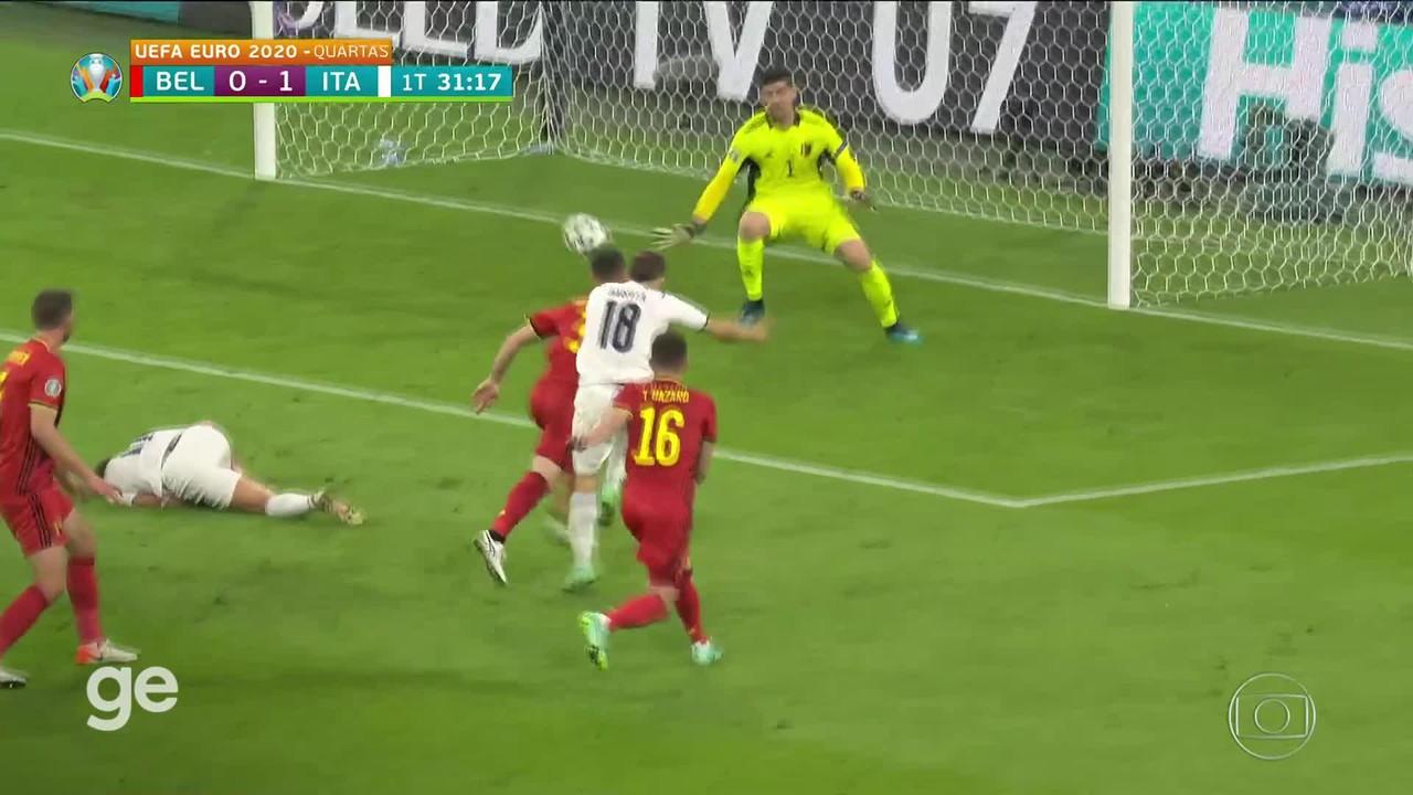 Gol de Barella! Itália 1 x 0 Bélgica nas quartas (placar final: 2 a 1)