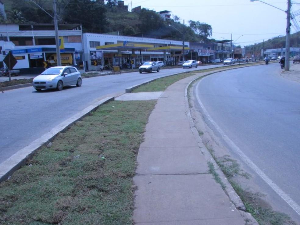 Ponto a ser restaurado — Foto: Prefeitura de Muriaé/Divulgação