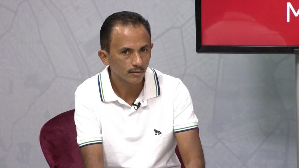 Manoel Gomes, autor do hit 'Caneta Azul' em entrevista ao G1 Maranhão — Foto: Reprodução / G1 Maranhão