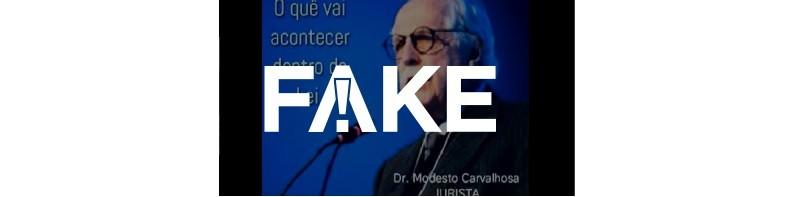 É #FAKE que áudio com ofensas ao STF e defendendo golpe de estado foi gravado por Modesto Carvalhosa