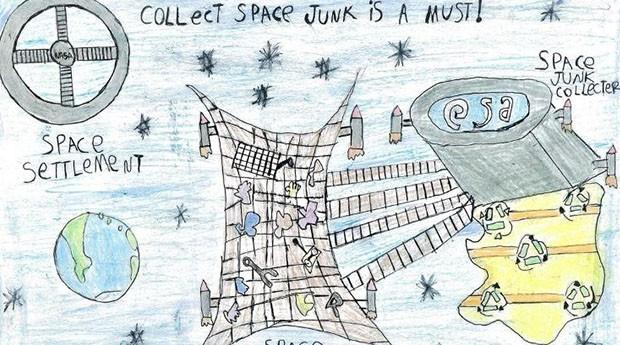 O projeto de coletor de lixo espacial. (Foto: Arquivo pessoal)