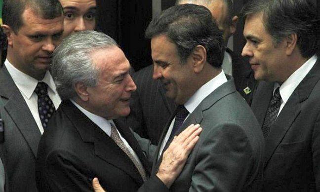 Presidente Michel Temer e o senador Aécio Neves (Foto: Aílton de Freitas / Agência O Globo / 31/08/2016)