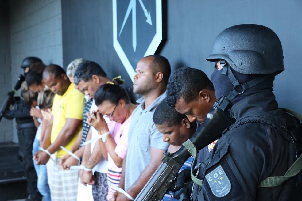 Ao todo, 10 pessoas foram presas (Foto: Divulgação/SSP-BA)