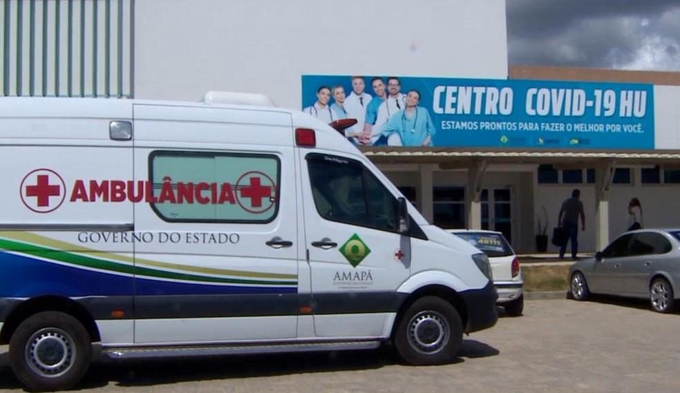 Centro Covid do Hospital Universitário de Macapá — Foto: Rede Amazônica/Reprodução