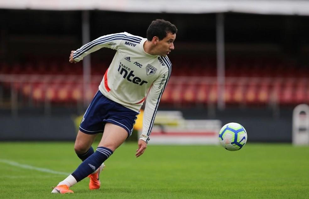Pablo tem se destacado nos treinos do São Paulo — Foto: Rubens Chiri/saopaulofc.net