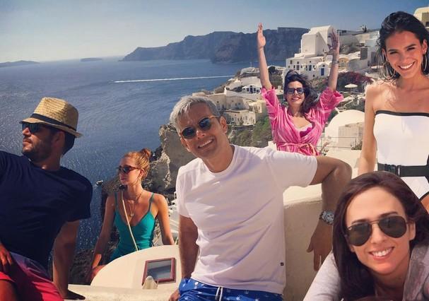 """Evaristo Costa reuniu uma """"galera"""" em sua """"viagem"""" com Marquezine e Ruy Barbosa (Foto: Instagram/Reprodução)"""