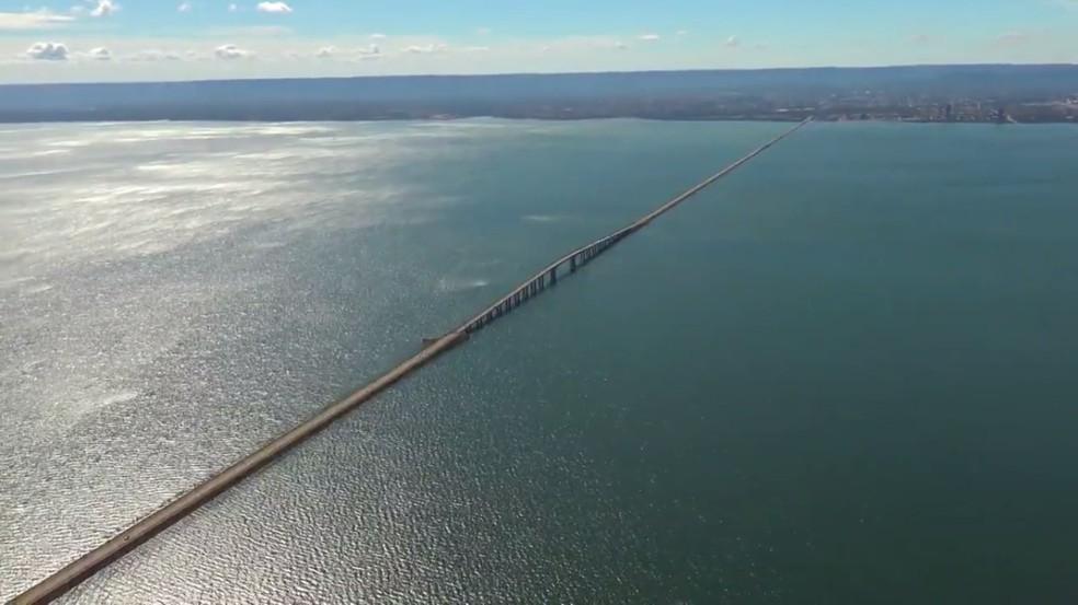 Ponte Fernando Henrique Cardoso, entre Palmas e Paraíso — Foto: Reprodução/G1