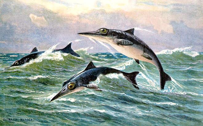 Os ictiossauros eram répteis marinhos que viviam no mar onde hoje fica o estado de Nevada (Foto: Wikimedia Commons)