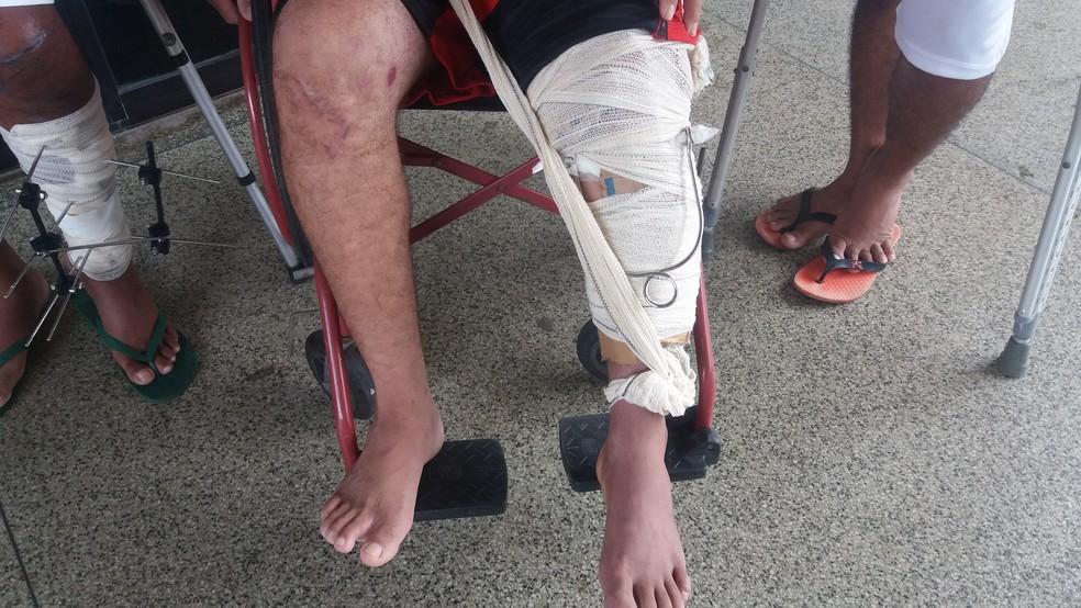 Espera para cirurgias ortopédicas dura quase dois meses, de acordo com pacientes (Foto: Jéssica Alves/G1)