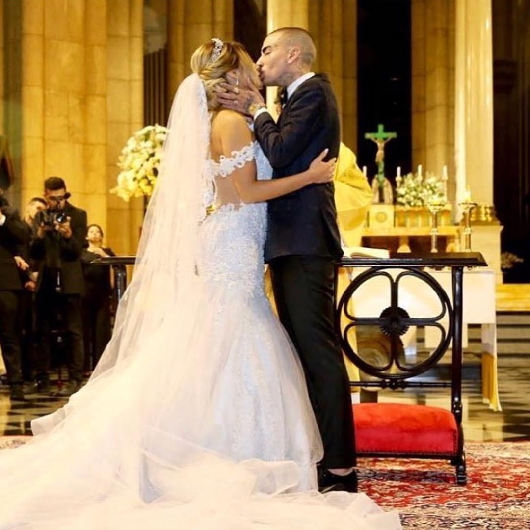 Lexa e MC Guimê se casam em São Paulo; veja fotos