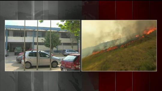 Prefeitura decreta emergência por  incêndio na Serra da Bocaina