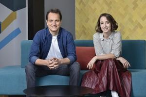 Mafalda Barros e Gonzalo Blanco, fundadores da startup Quansa