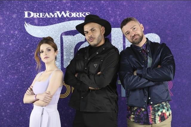 Anna Kendrick, Hugo Gloss e Justin Timberlake, (Foto: Divulgação)
