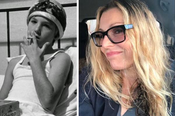 A atriz Tatum O'Neal aos 11 anos em cena de Lua de Papel (1973) e hoje, aos 54 anos (Foto: Reprodução/Instagram)