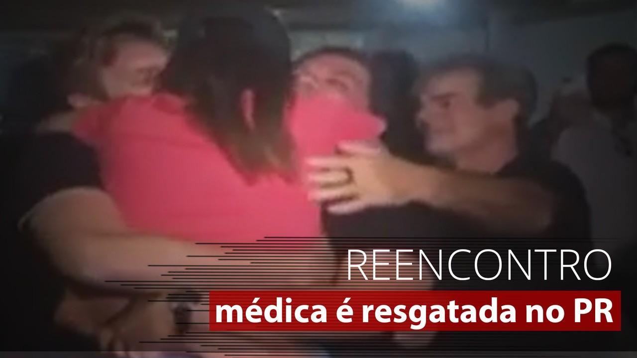 Veja o momento em que médica desaparecida em Erechim, RS, reencontra família