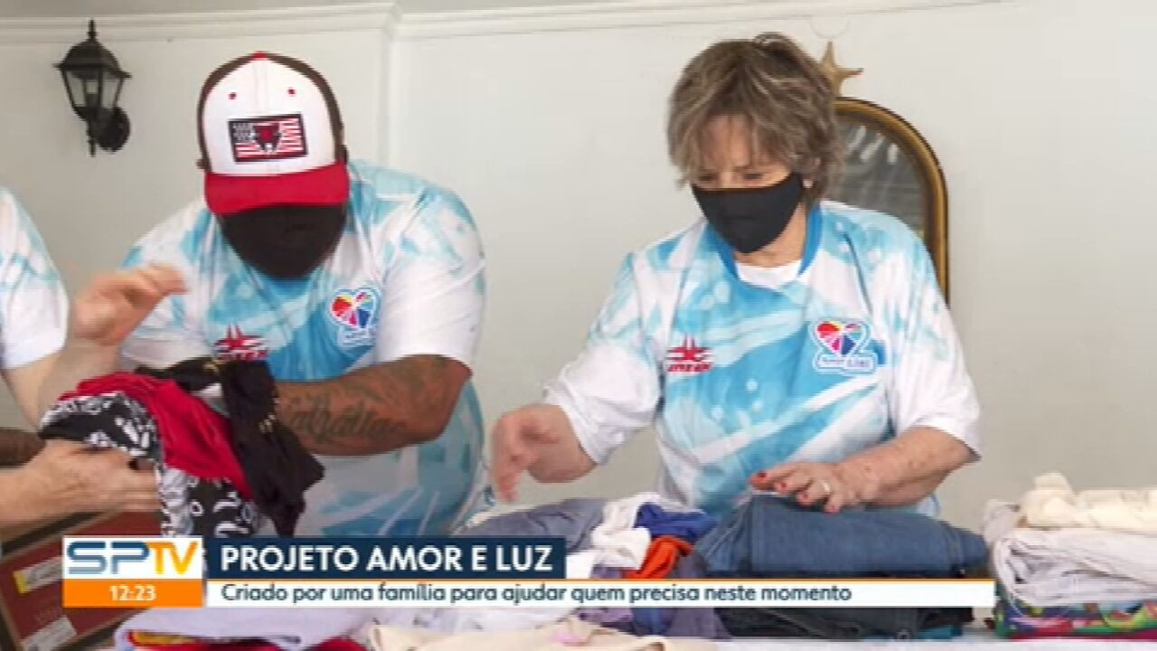 Projeto Amor e Luz arrecada e distribui doações em São Paulo