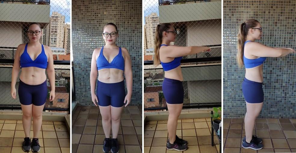 Estudante de Ribeirão Preto perdeu 36 kg com exercícios funcionais — Foto: Hannah Martins/Acervo pessoal