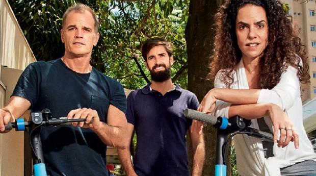 Fundadores da Ride, startup de patinetes elétricas (Foto: Divulgação)