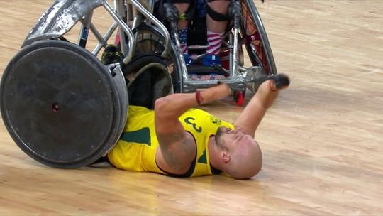 Austrália vence Estados Unidos na final do rúgbi em cadeira de rodas