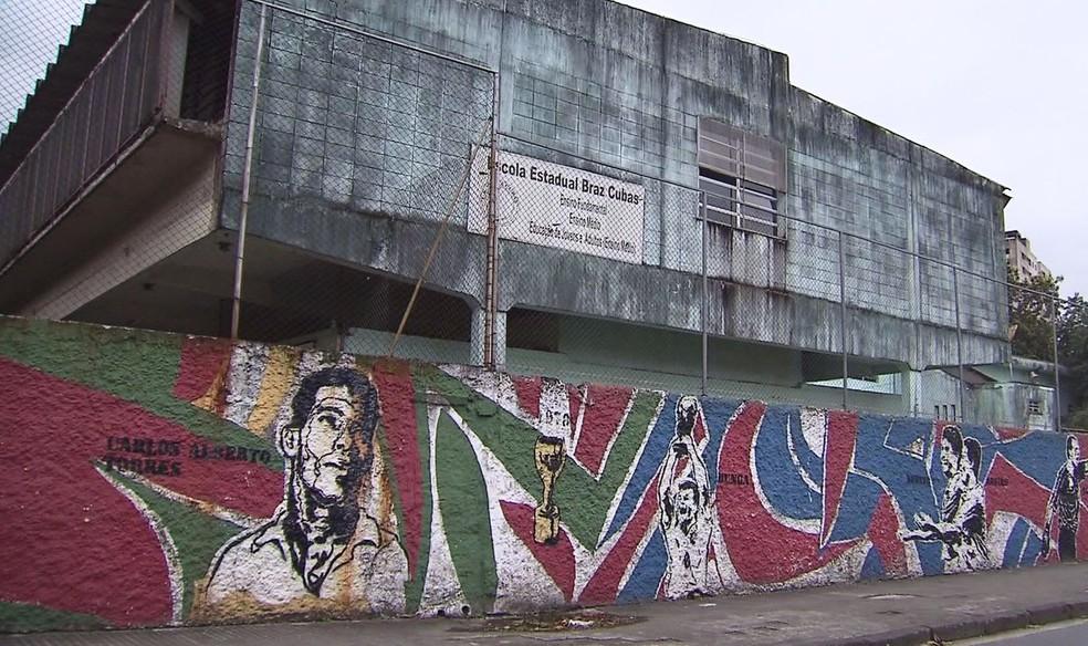 Escola Estadual Braz Cubas será fechada em Santos, SP (Foto: Reprodução/TV Tribuna)