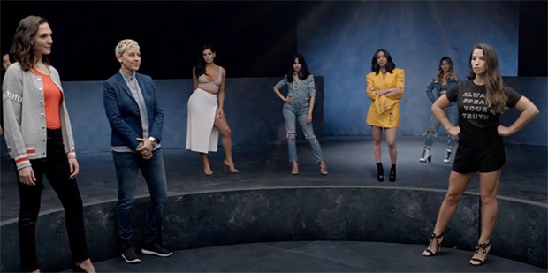 Celebridades no clipe do Maroon 5 (Foto: Divulgação)
