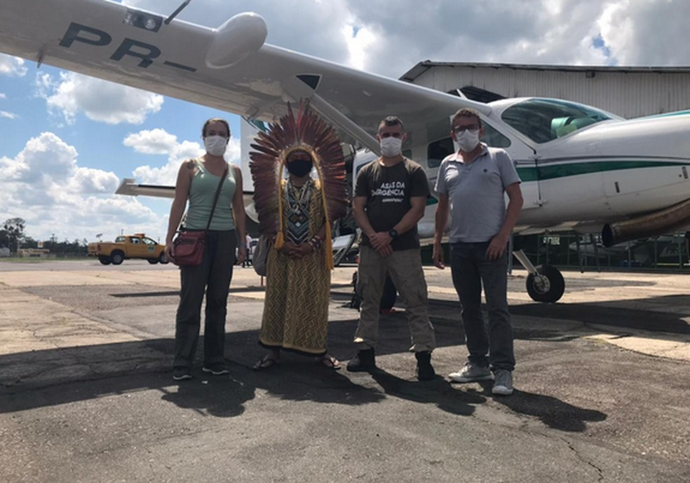 Líder indígena diz que projeto recebe apoio de entidades de fora do Brasil e do Banco do Brasil — Foto: Ninawá Inu Huni kui/Fephac