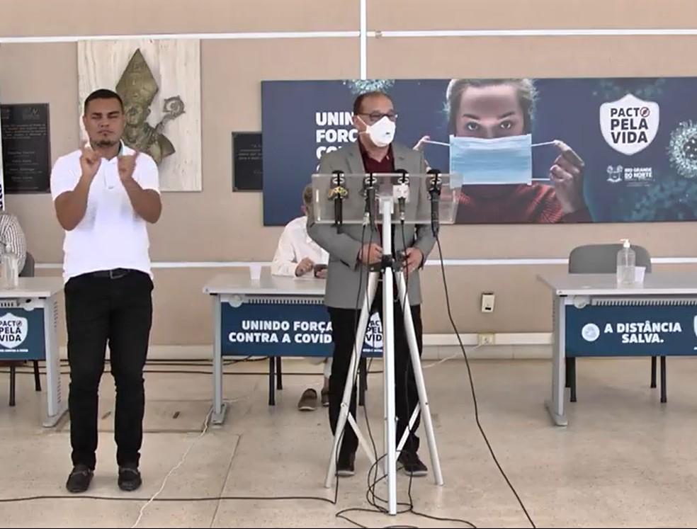 Secretário de Educação do RN, Getúlio Marques, anuncia retorno das aulas presenciais no estado para 5 de outubro — Foto: Reprodução