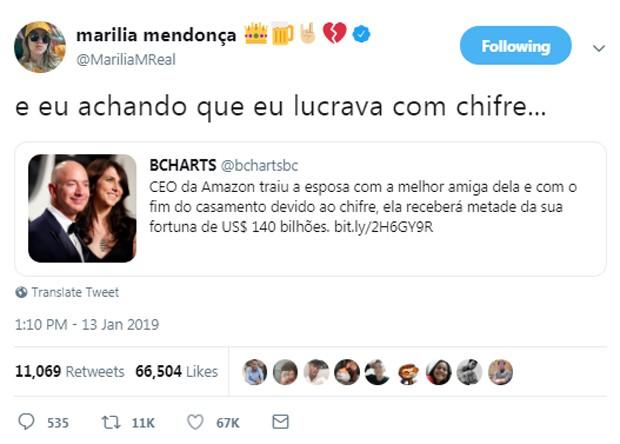 Marília Mendonça (Foto: Reprodução/Twitter)