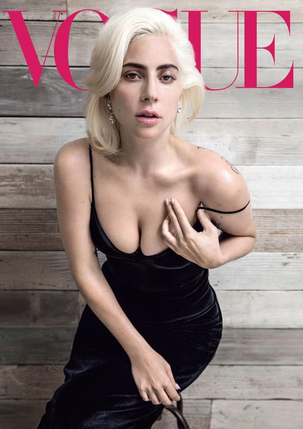 Lady Gaga na Vogue americana de outubro 2018 (Foto: Divulgação/Inez & Vinoodh para Vogue America)