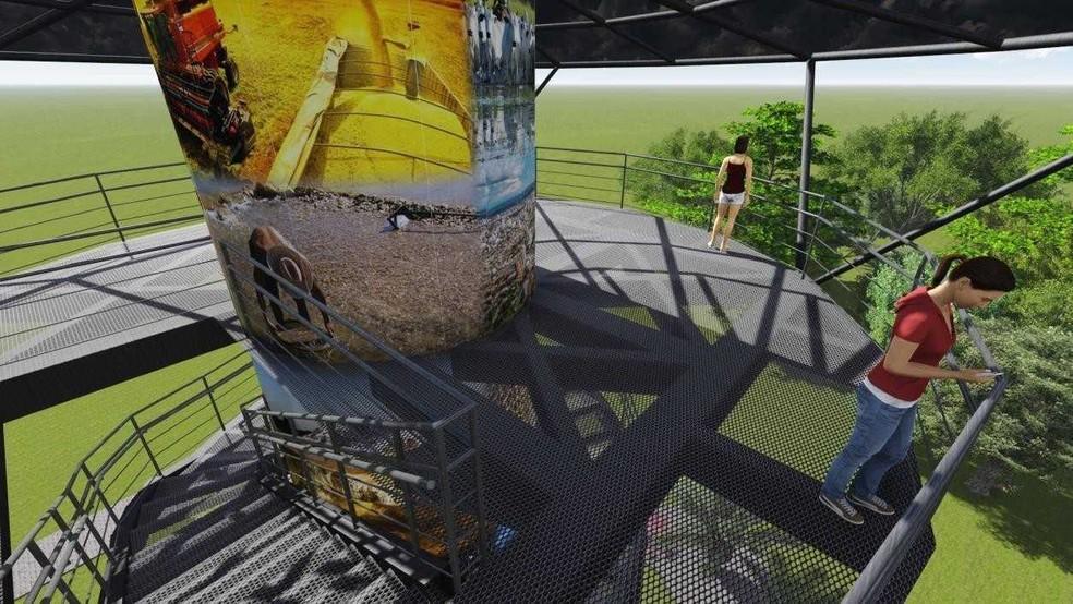 Plataforma de observação terá 12 metros de altura (Foto: Reprodução)