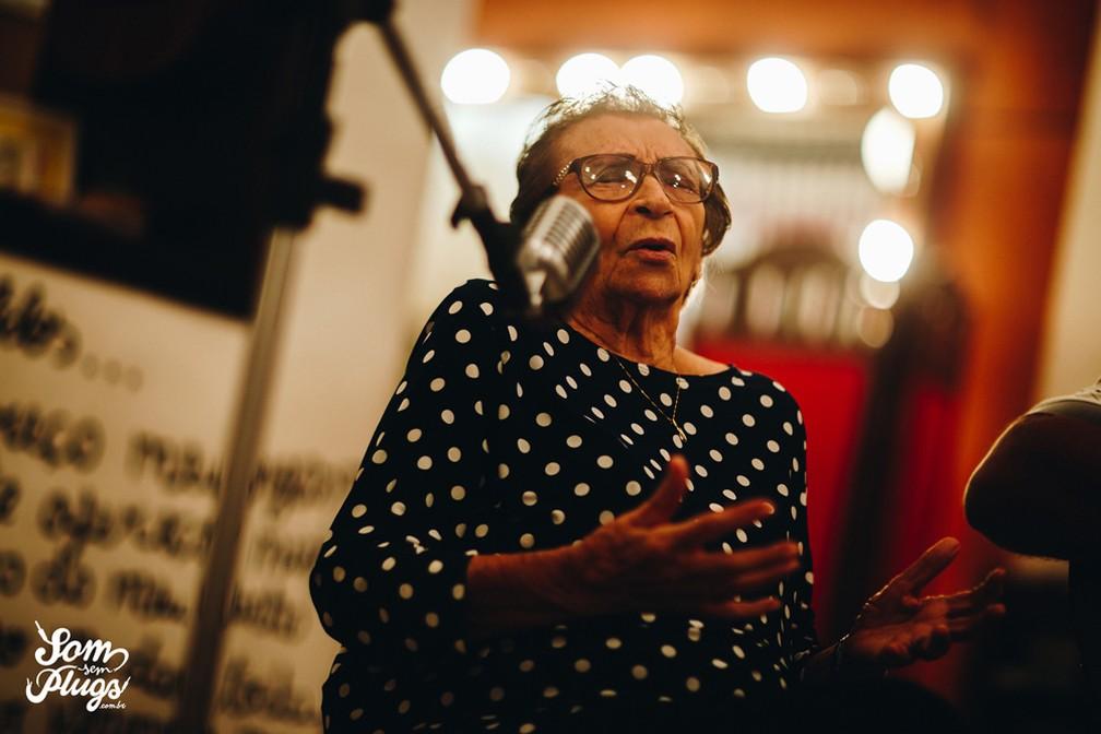 Glorinha Oliveira morreu aos 95 anos de idade — Foto: Som Sem Plugs
