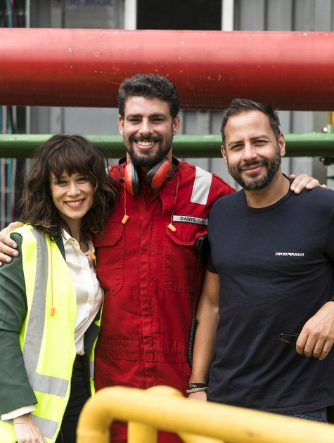 Mariana Ximenes, Cauã Reymond e Afonso Poyart (Foto: João Miguel Júnior/TV Globo)