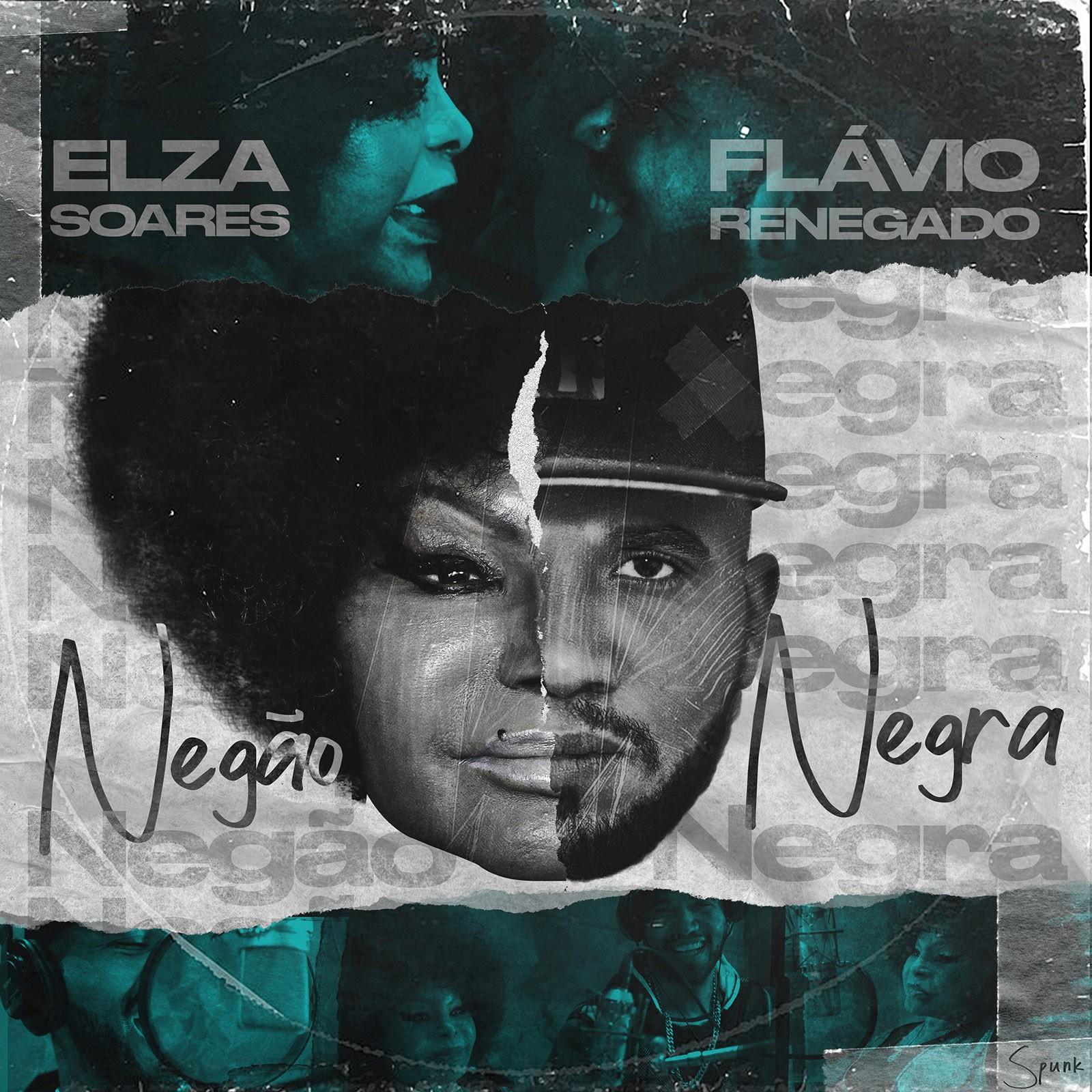 Elza Soares brada contra racismo estrutural em single com rapper Flávio Renegado