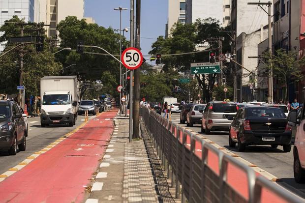 Velocidade máxima é reduzida em vias da cidade de São Paulo trânsito segurança (Foto: Oswaldo Corneti / Fotos Públicas )