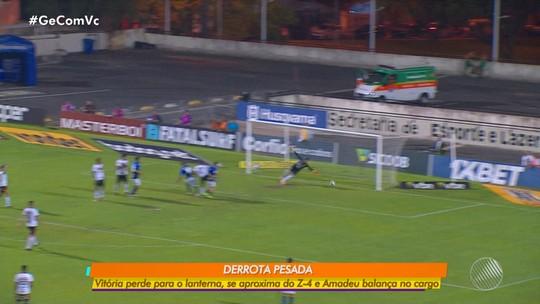 Vitória perde para o time lanterna da Série B; Com a derrrota, Amadeu balança no cargo