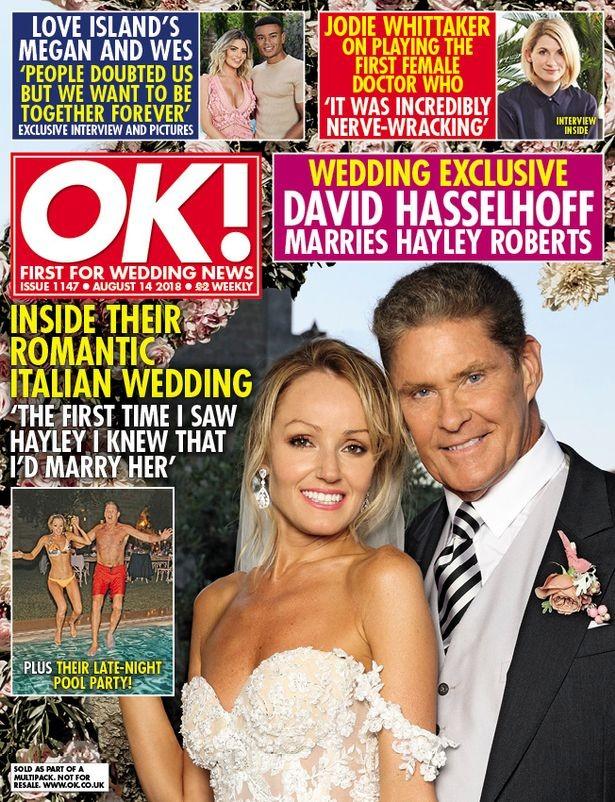 David Hasselhoff e Hayley Roberts (Foto: Reprodução)