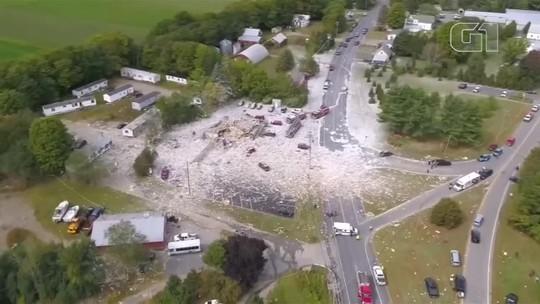 Explosão de gás mata bombeiro e destrói totalmente edifício no estado do Maine, nos EUA