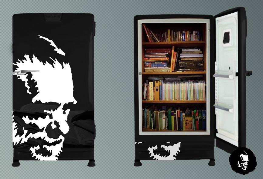 Geladeira de livros do Bukowski