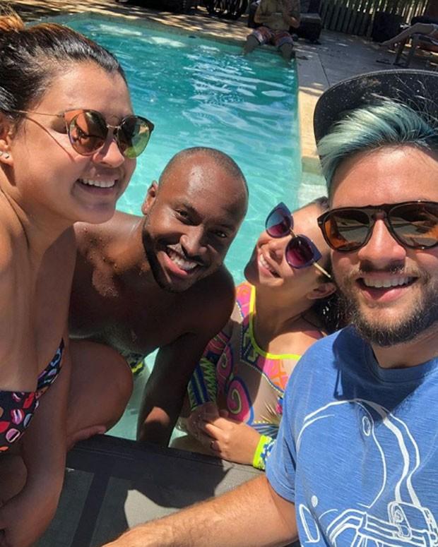 Preta Gil, Thiaguinho e Fernanda Souza, e Rodrigo Godoy (Foto: Reprodução Instagram)