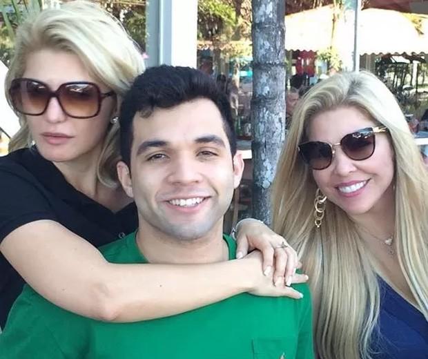 Antonia Fontenelle, Jonathan Costa e Verônica Costa (Foto: Reprodução/Instagram)