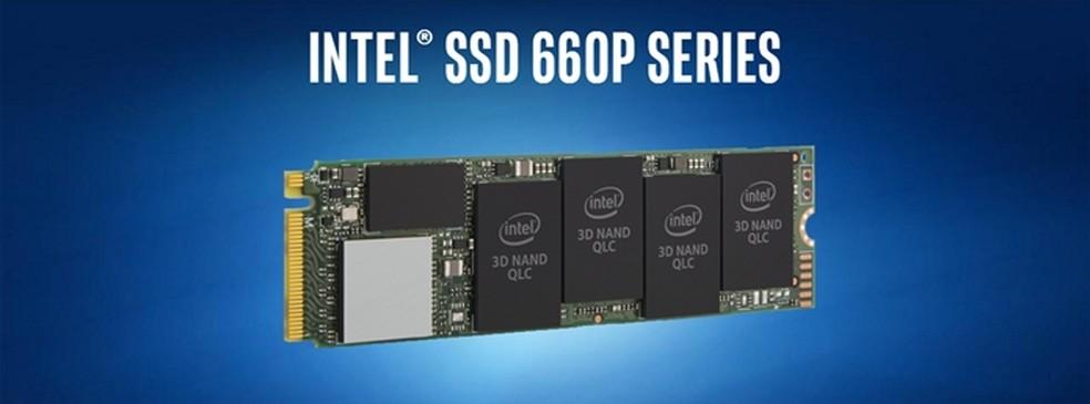 SSD 660P é oferecido com 512 GB, 1 TB e 2 TB — Foto: Divulgação/ Intel