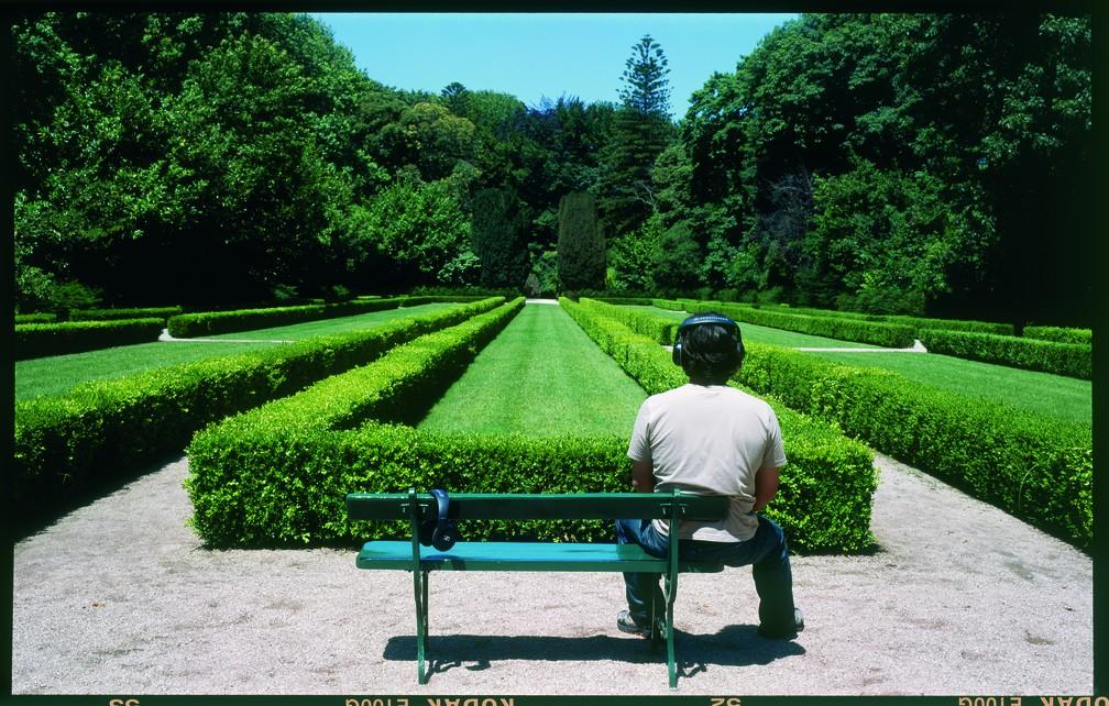 Vista da instalação 'Word for Gardens' (2004), da artista portuguesa Luisa Cunha, na mostra 'Vento', da 34ª Bienal de SP — Foto: Daniel Malhão/Divulgação 34ª Bienal de SP