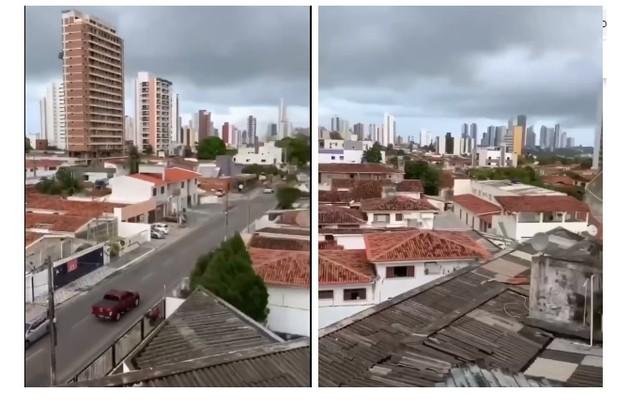 O imóvel, que é alugado, tem vista para uma via movimentada de João Pessoa (Foto: Reprodução/TV Globo)