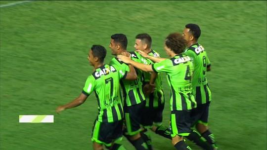 Os gols de América-MG 2 x 0 ABC pela 34ª rodada da série B do Campeonato Brasileiro