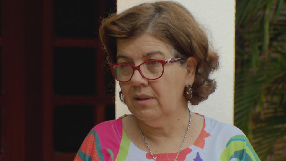 Maria José Valença, moradora do Lago Sul, fala sobre economia de água (Foto: TV Globo/Reprodução)