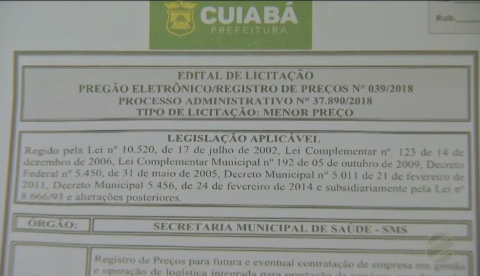 Licitação de R$ 14 milhões deveria ser realizada no dia 29 de junho (Foto: TVCA/Reprodução)