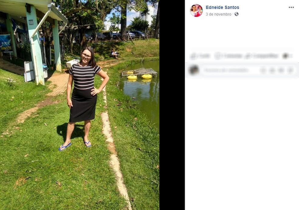 Morta no tiroteio em Milagres (CE), Francisca Edneide da Cruz Santos morava em Hortolândia — Foto: Reprodução/Facebook