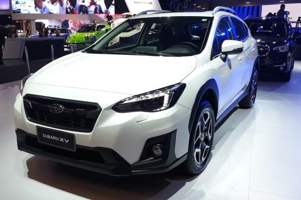 Subaru XV já está à venda, mas é a principal atração da marca no Salão (Foto: Maria Clara Dias/Autoesporte)