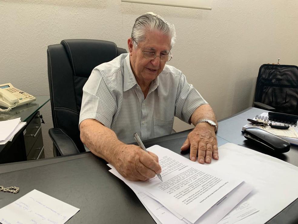 Dito Rocha foi prefeito de Pardinho em seis oportunidades — Foto: Facebook/Reprodução